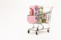 Банкноты различного значения Стоковые Фото