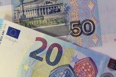 Банкноты различных стран, различной деноминации стоковые фото