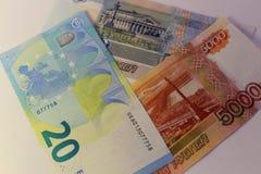 Банкноты различных стран, различной деноминации Стоковая Фотография