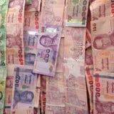 Банкноты Таиланда Стоковое фото RF