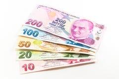 Банкноты турецкой лиры Стоковая Фотография RF