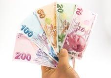 Банкноты турецкой лиры Стоковые Фотографии RF