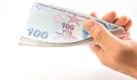 Банкноты турецкой лиры Стоковая Фотография