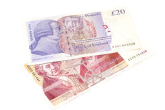 Банкноты фунта стерлинга Стоковое фото RF