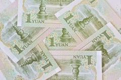 Банкноты юаней китайца одного (renminbi), для концепций денег Стоковое Изображение RF