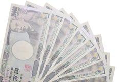 Банкноты японских иен Стоковые Изображения