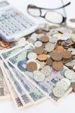 Банкноты японских иен Стоковое фото RF