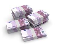 Банкноты 3D евро валюты Стоковые Фотографии RF