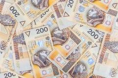 Банкноты 200 PLN - польский злотый Стоковое Изображение