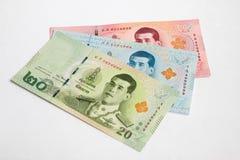 Банкноты Rama x тайские Стоковые Фотографии RF