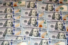 100 банкнот американца доллара Стоковое Изображение