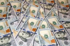 100 банкнот американца доллара Стоковое фото RF