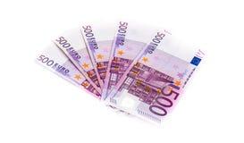 500 банкнот евро изолированных на белой предпосылке cash Стоковые Изображения RF