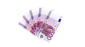 500 банкнот евро изолированных на белой предпосылке cash Стоковое Фото