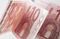 10 банкнот евро Стоковое Изображение RF