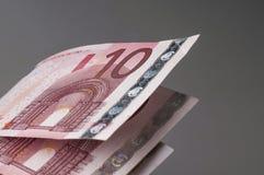 10 банкнот евро Стоковая Фотография
