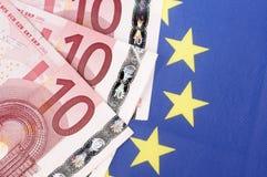 10 банкнот евро Стоковые Фотографии RF
