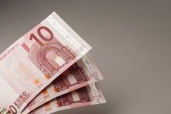 10 банкнот евро Стоковые Изображения RF