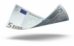 5 банкнот евро Стоковые Изображения RF