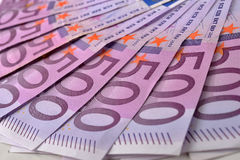 500 банкнот денег евро Стоковая Фотография