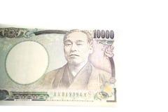 10000 банкнот ИЕН Японии Стоковое фото RF