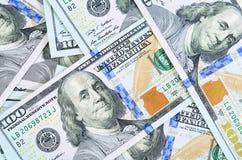 100 банкнот доллара как предпосылка Стоковые Изображения RF
