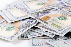 100 банкнот доллара как предпосылка Стоковое Изображение
