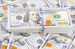 100 банкнот доллара как предпосылка Стоковое фото RF