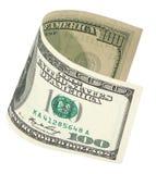 100 банкнот доллара с путем клиппирования Стоковое Фото