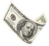 100 банкнот доллара с путем клиппирования Стоковые Фотографии RF