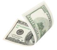 100 банкнот доллара с путем клиппирования Стоковые Изображения