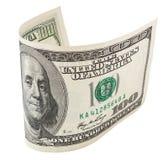 100 банкнот доллара с путем клиппирования Стоковое Изображение RF
