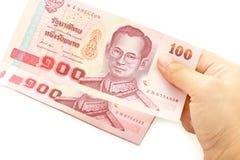 100 банкнот Таиланд бата Стоковое фото RF