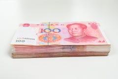 100 банкнот юаней Стоковое Фото