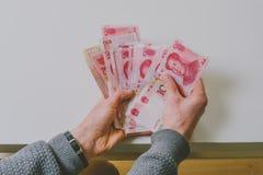 100 банкнот юаней Стоковое фото RF