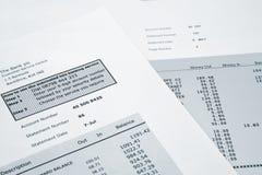 Банковская запись кредитной карточки Стоковое Изображение
