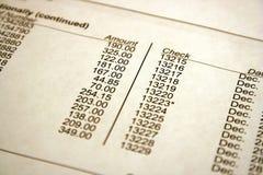 банковская запись Стоковые Изображения