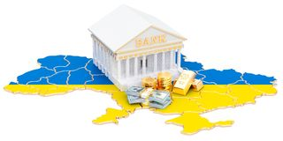 Банковская система в концепции Украины перевод 3d
