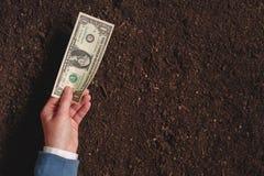 Банковская ссуда для аграрной деятельности в банкнотах доллара США Стоковые Фотографии RF