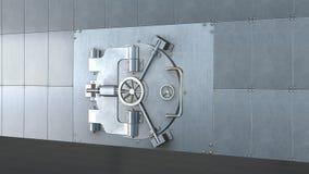 Банковское хранилище, закрытая дверь металла Стоковая Фотография RF
