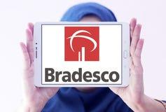 Банко логотип компании Bradesco Стоковые Фото