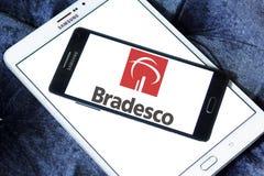 Банко логотип компании Bradesco Стоковое Фото