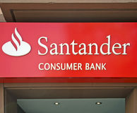 Банко santander Стоковое Фото