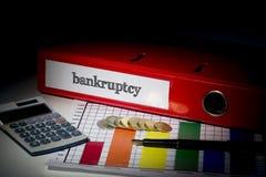 Банкротство на красном связывателе дела Стоковые Изображения