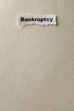 банкротство Стоковые Фото