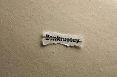 банкротство Стоковая Фотография RF