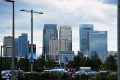 Банкы города увиденные от северного Гринвич Стоковые Фотографии RF