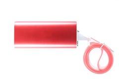 Банк батареи на белой предпосылке Стоковая Фотография RF