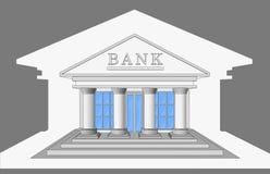 Банк, вид спереди Стоковые Изображения