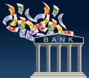 банк европа Стоковое фото RF